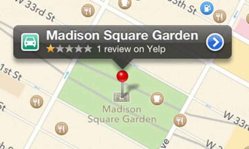La aplicación de Apple también tiene una tendencia a juzgar paisajes por sus nombres, por ejemplo, el Madison Square Garden. (Foto: AP)