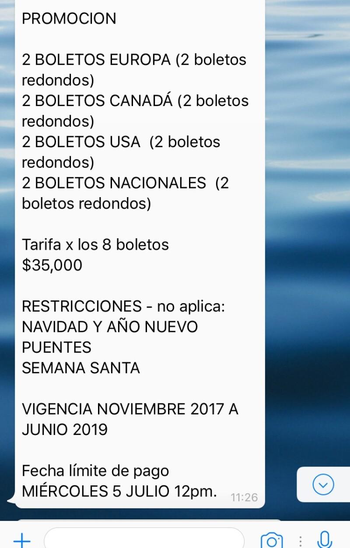 Aeroméxico alerta por fraude de boletos por Whatsapp