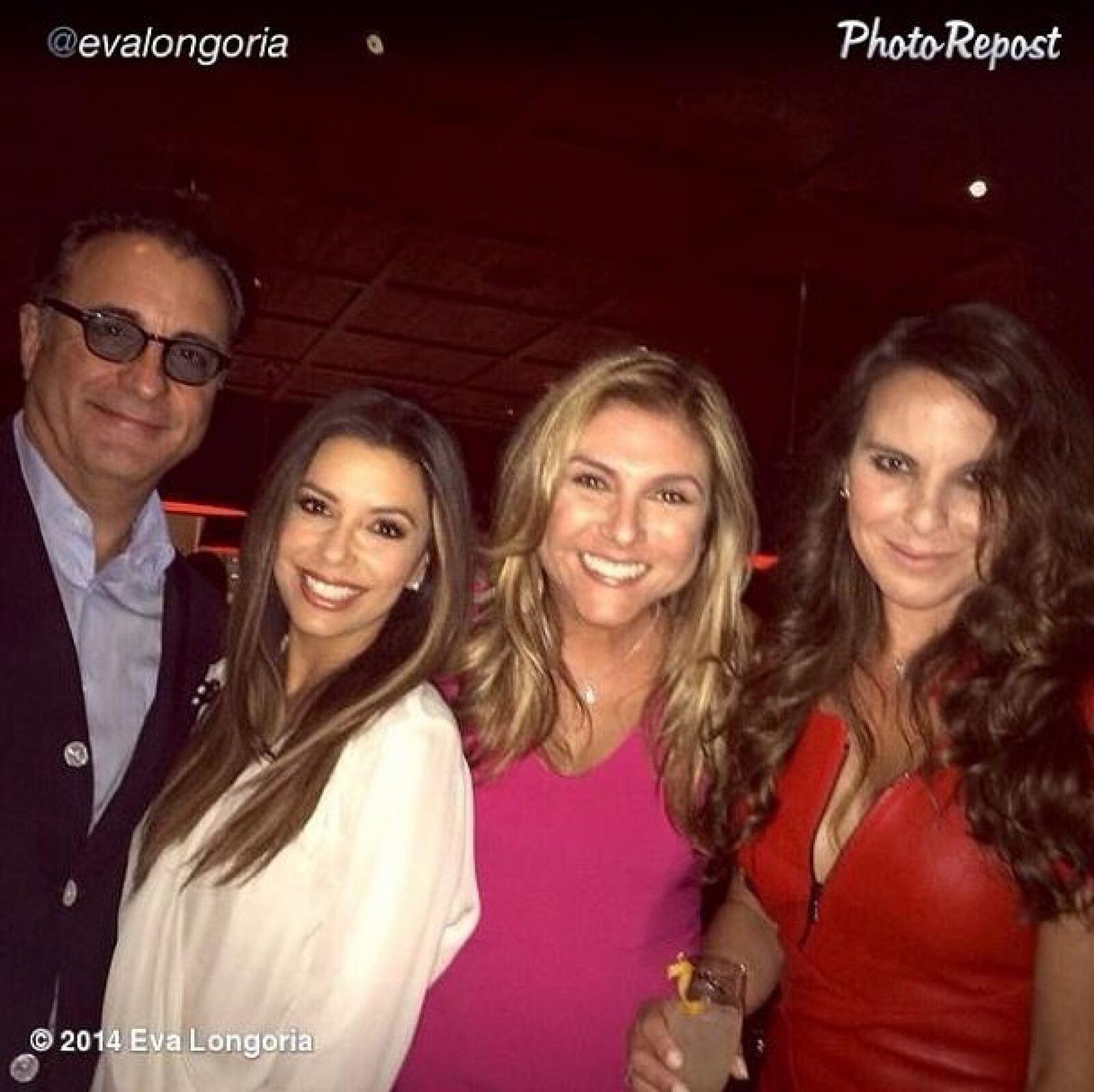 Andy Garcia, Eva Longoria, Lorena García y Kate Castilllo.