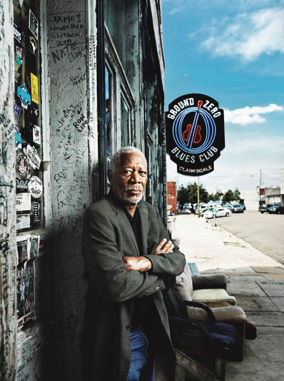 Morgan Freeman en las afueras de Ground Zero