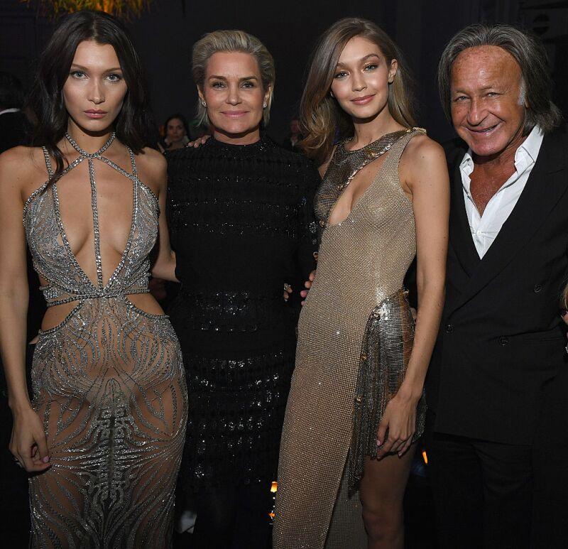 Bella, Yolanda, Gigi y Mohamed Hadid