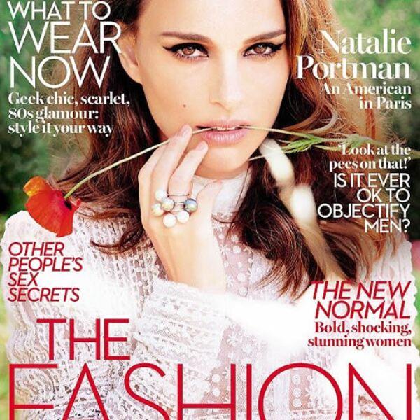 Marie Claire UK: La actriz Natalie Portman es la portada que fue fotografiada por Ellen Von Unwerth.