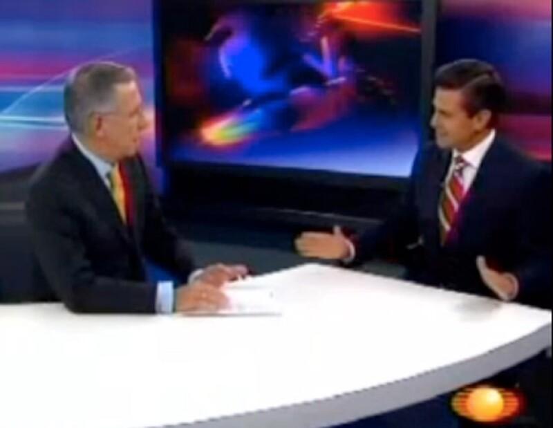 El ex gobernador del Estado de México reconoció en el Noticiero de Televisa que sí aspira a contender por la Presidencia de la República el próximo año.