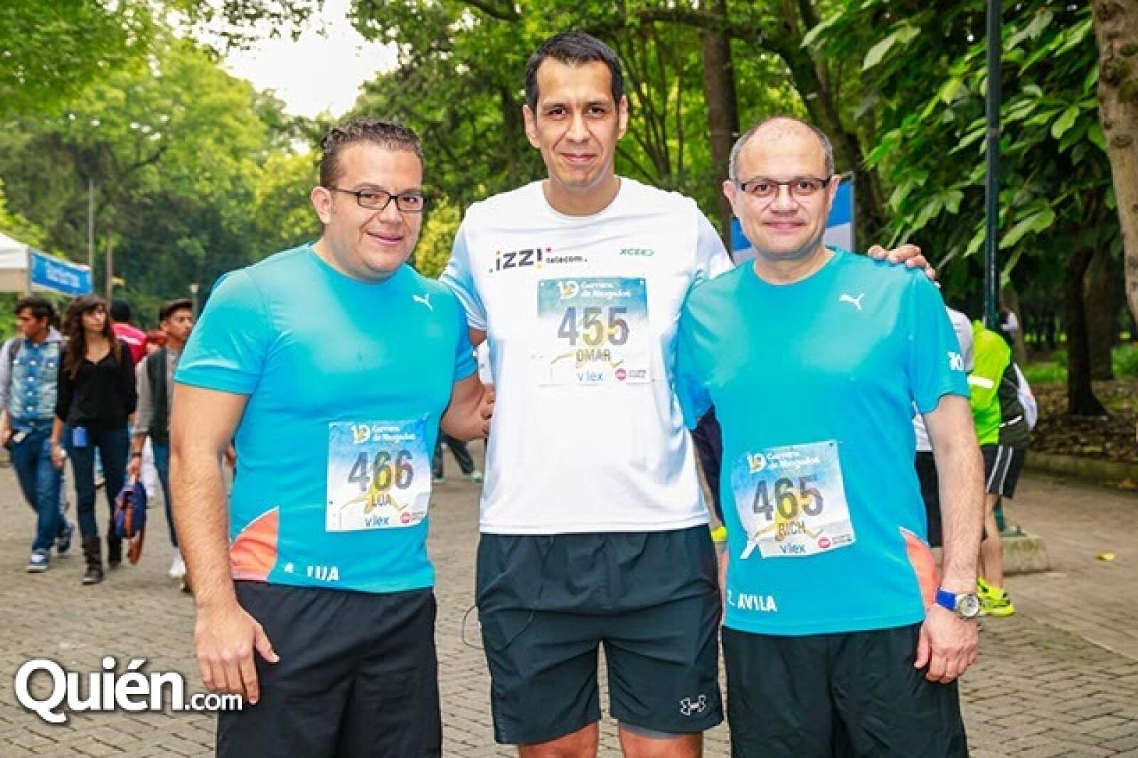 Alfonso Lúa,Omar Castillo y Ricardo Ávila