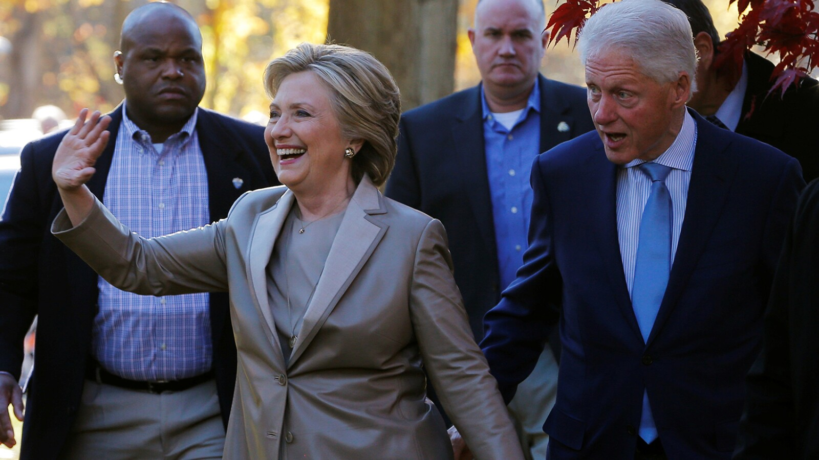 Hillary Clinton y su esposo