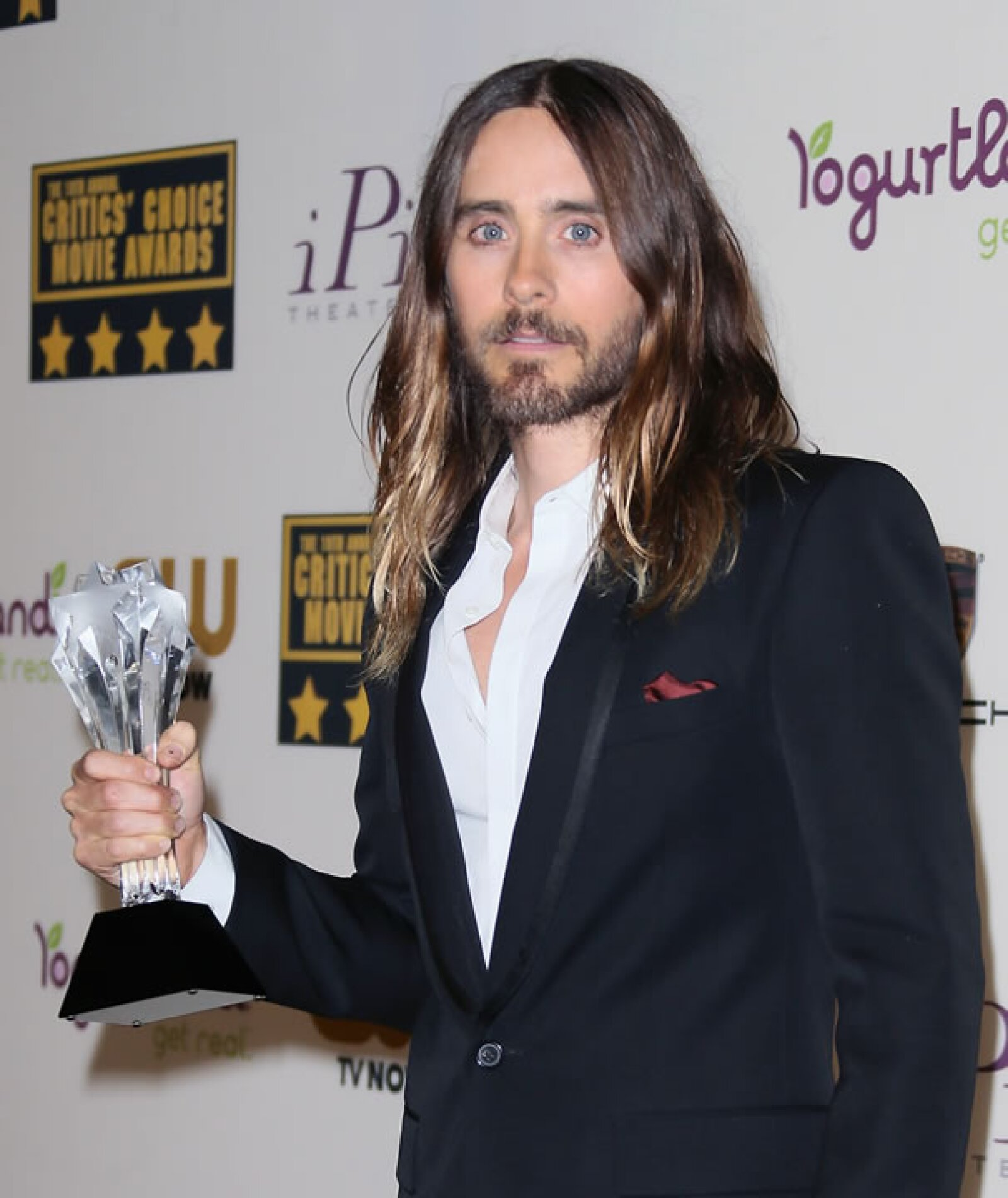 Jared Leto se llevó el premio como mejor actor de reparto por Dallas Buyers Club.