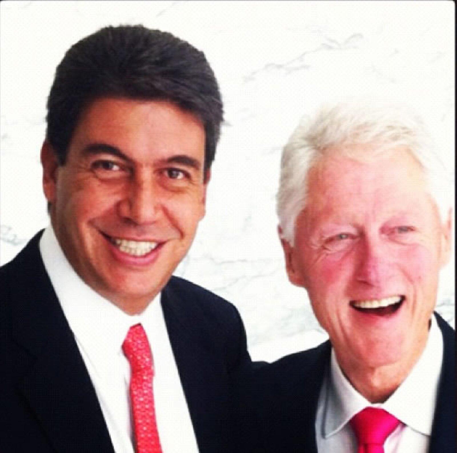 Con el ex presidente de Estados Unidos, Bill Clinton.