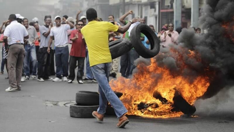 Panamá protestas Colón