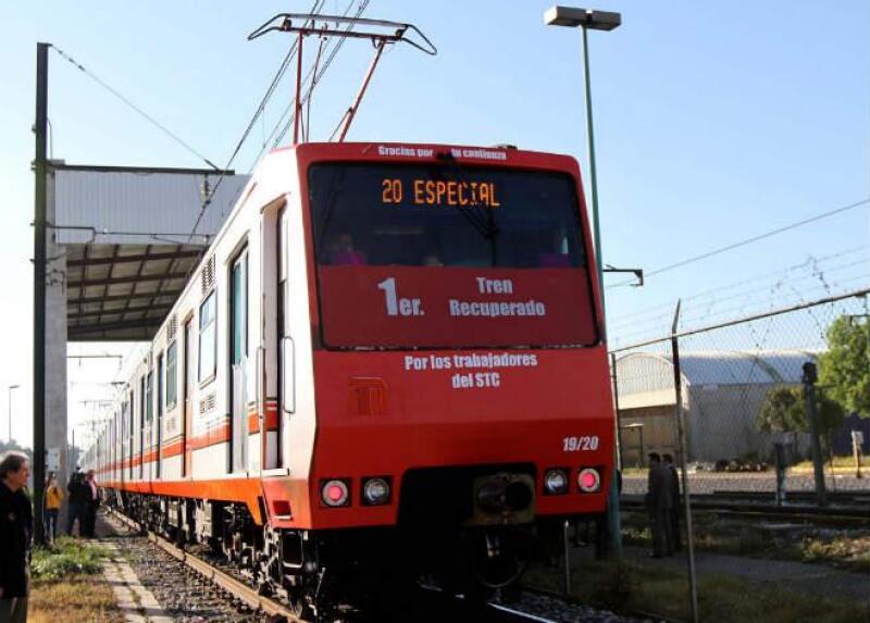 Tren recuperado de la L�nea A del Metro de la Ciudad de M�xico