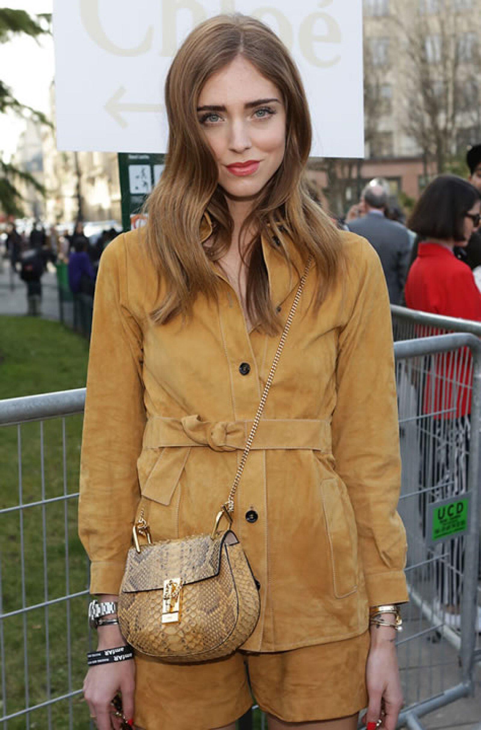 La blogger Chiara Ferragni optó por una de piel de víbora.