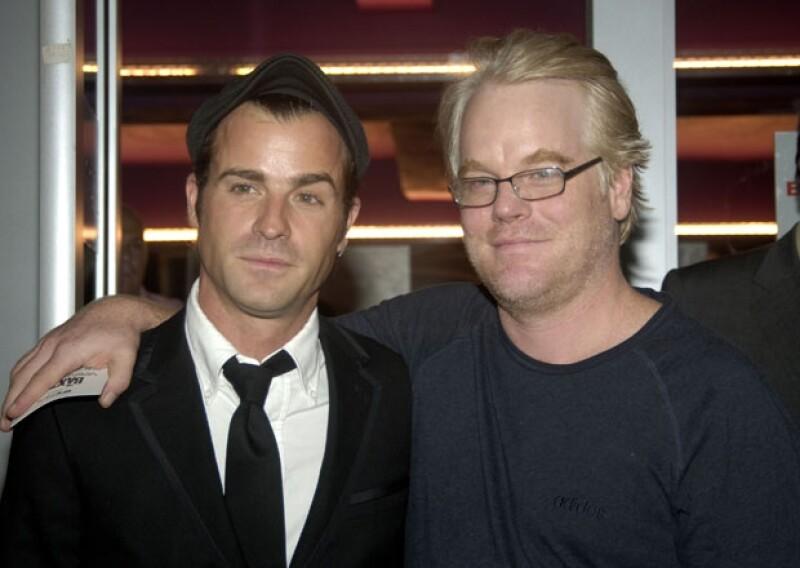 Justin Theroux y Philip Hoffman en 2005.