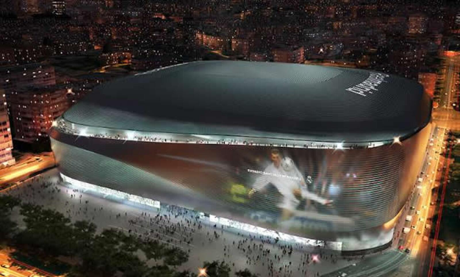 La nueva casa del Real Madrid estará dotada de una fachada asimétrica de acero.