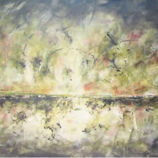"""La intensa actividad de los últimos meses le ha restado tiempo a la pintura, pero no le ha hecho abandonarlo. """"Esencia equina"""", mixta sobre tela, 1.60 x 2.20 m"""