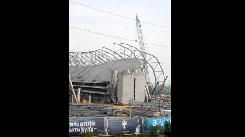 El nuevo estadio de los Rayados de Monterrey en Guadalupe, Nuevo León