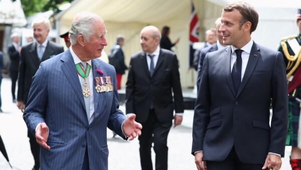 Príncipe Carlos y Emmanuel Macron