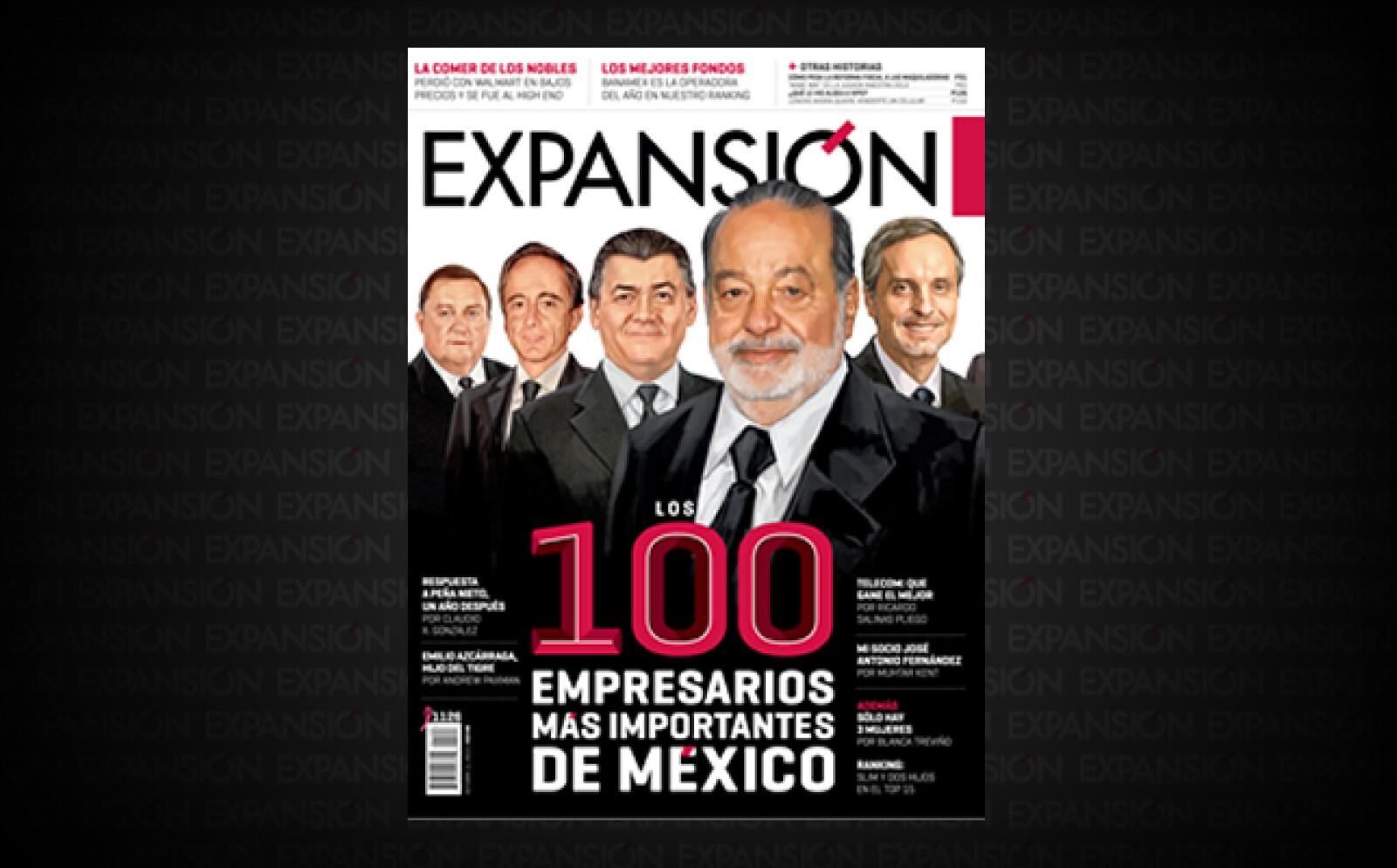 Tras la muerte de Roberto González, el mando de Gruma es asumido por Juan A. González, quien se integra al listado, al igual que Pablo Azcárraga Andrade, de Grupo Posadas, y Jorge Nacer Gobera, de Nacer Gober, Universidad ICEL y El Economista.