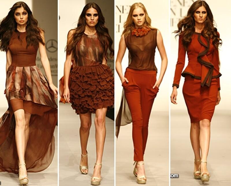 Siluetas femeninas y una amplia gama de colores desde gélidos hasta vivos se derrocharon en el segundo día del Marco de Moda capitalino.