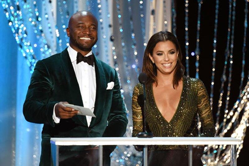 La actriz presentó un premio durante la noche.