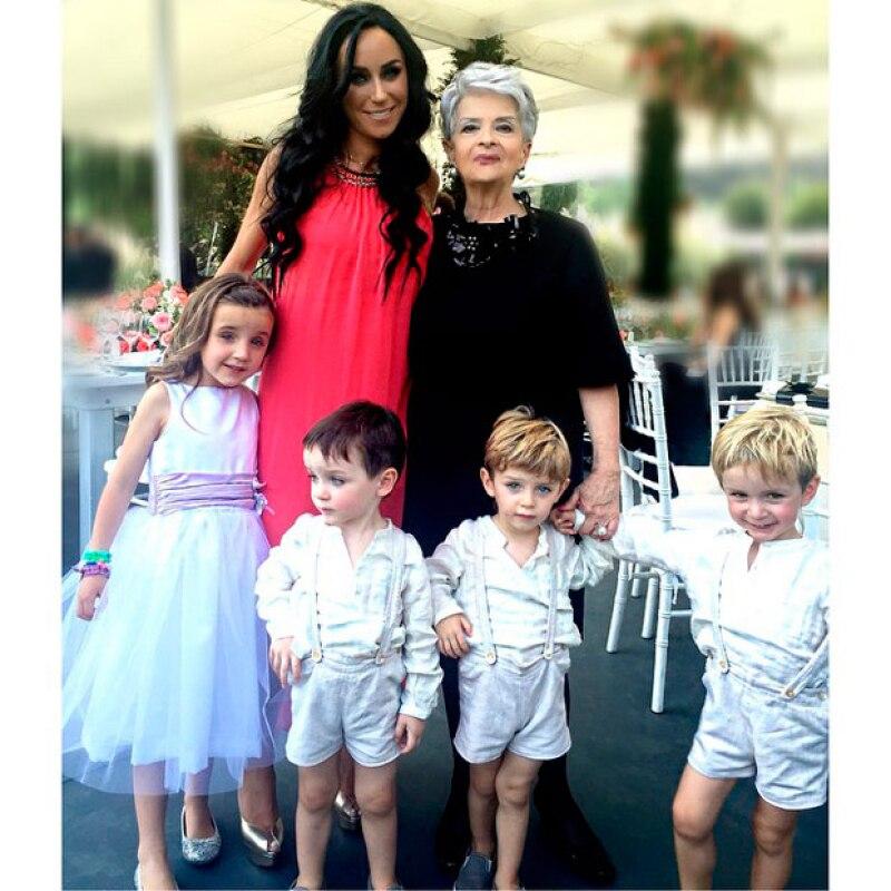 Inés Gómez Mont próximamente tendrá un quinto hijo, cosa que muchos de sus fans le reconocen.