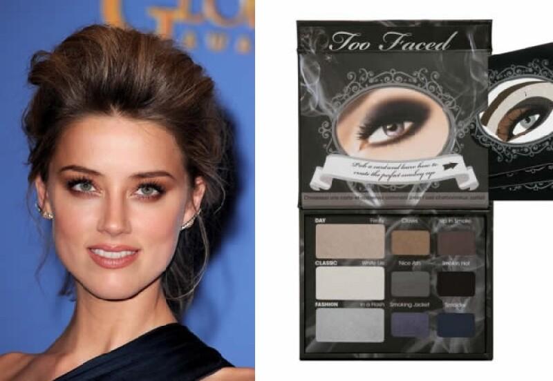 Amber Heard nos muestra como un clásico maquillaje en tonos nude lo transformó rápidamente en un llamativo smokey en dorado.
