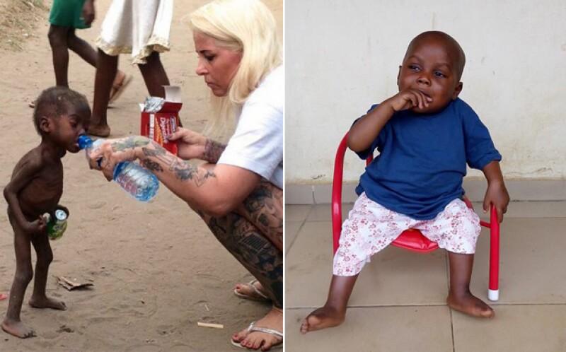 El pequeño había sido abandonado a su suerte debido a una superstición nigeriana, pero hoy luce completamente recuperado gracias a Anja Ringgren, una activista danesa.