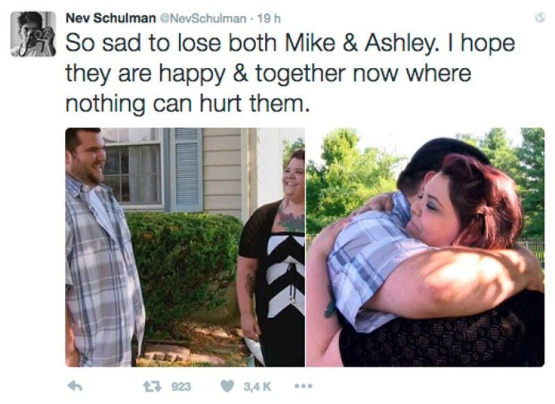 El conductor del programa envió su más sentido pésame y lamentó la muerte de Ashley.