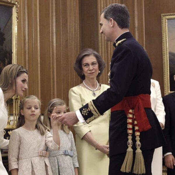 Lo acompañaron la reina Letizia, la princesa Leonor, la infanta Sofía, Doña Sofía, Doña Elena y Felipe Juan Froilán de Marichalar, su sobrino.
