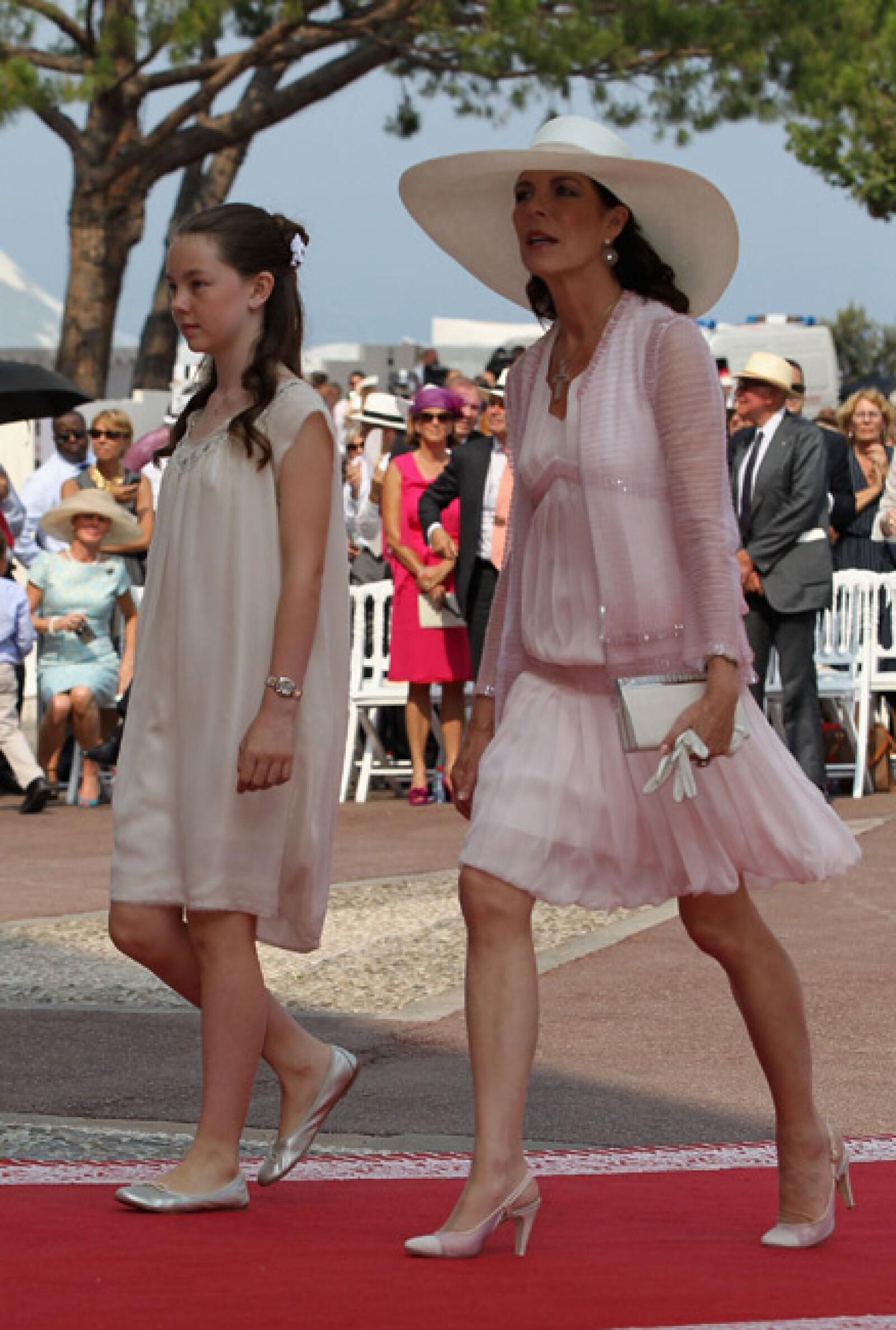 La princesa Carolina y su hija Alexandra.