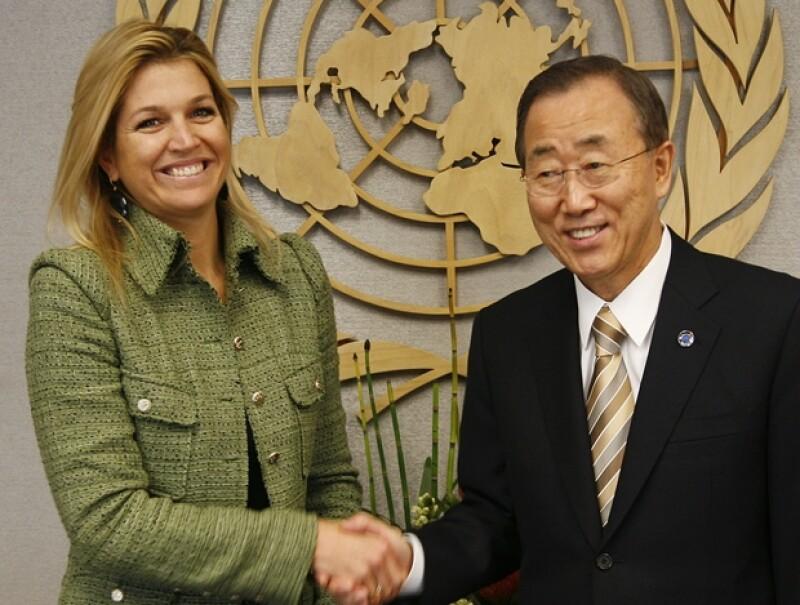 Máxima es embajadora de la ONU.