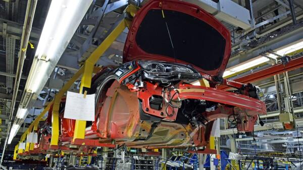 Modern car assembly plant
