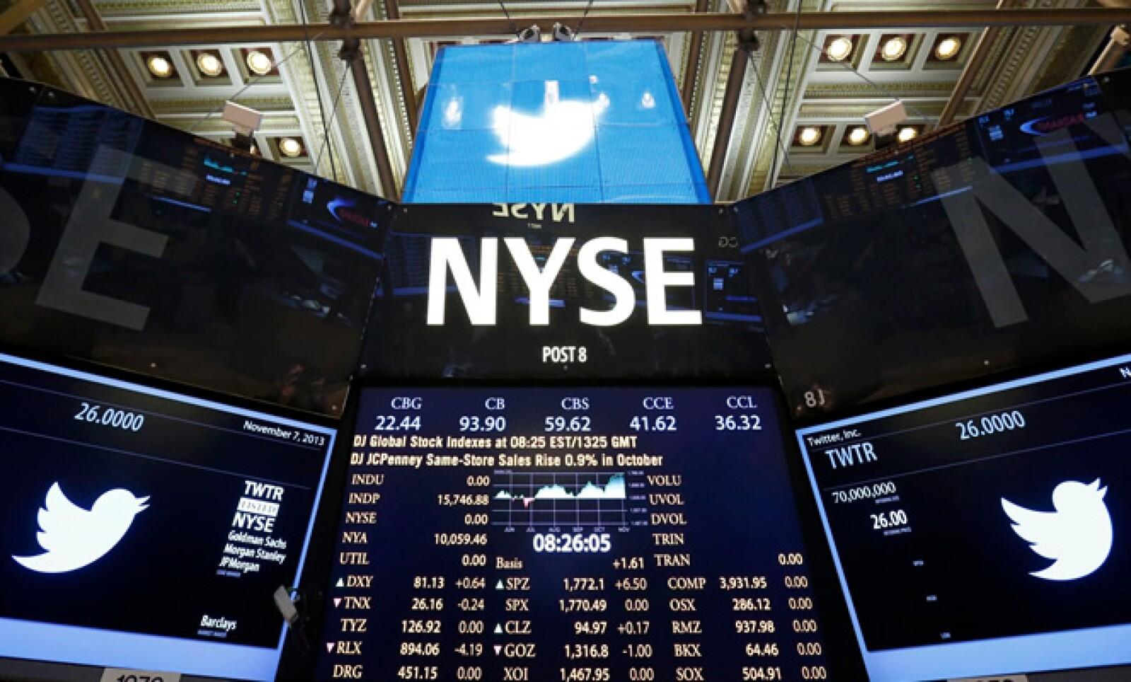 Las acciones de la red social empezaron a cotizar cerca de las 10:00 hora de México, casi dos horas después de la apertura de mercado.