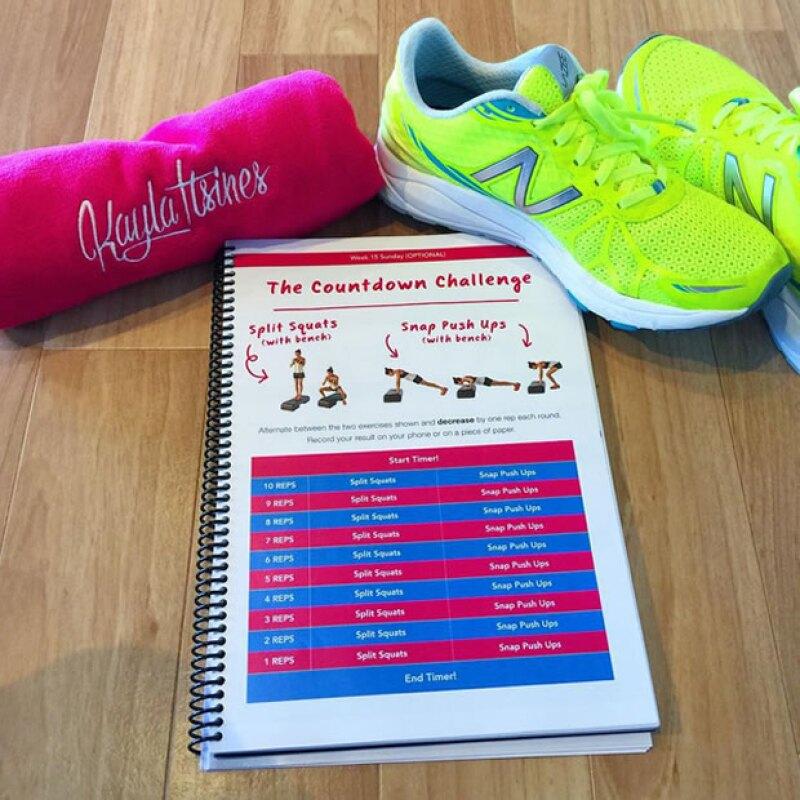 El Bikini Body Guide incluye imágenes de cómo hacer los ejercicios.
