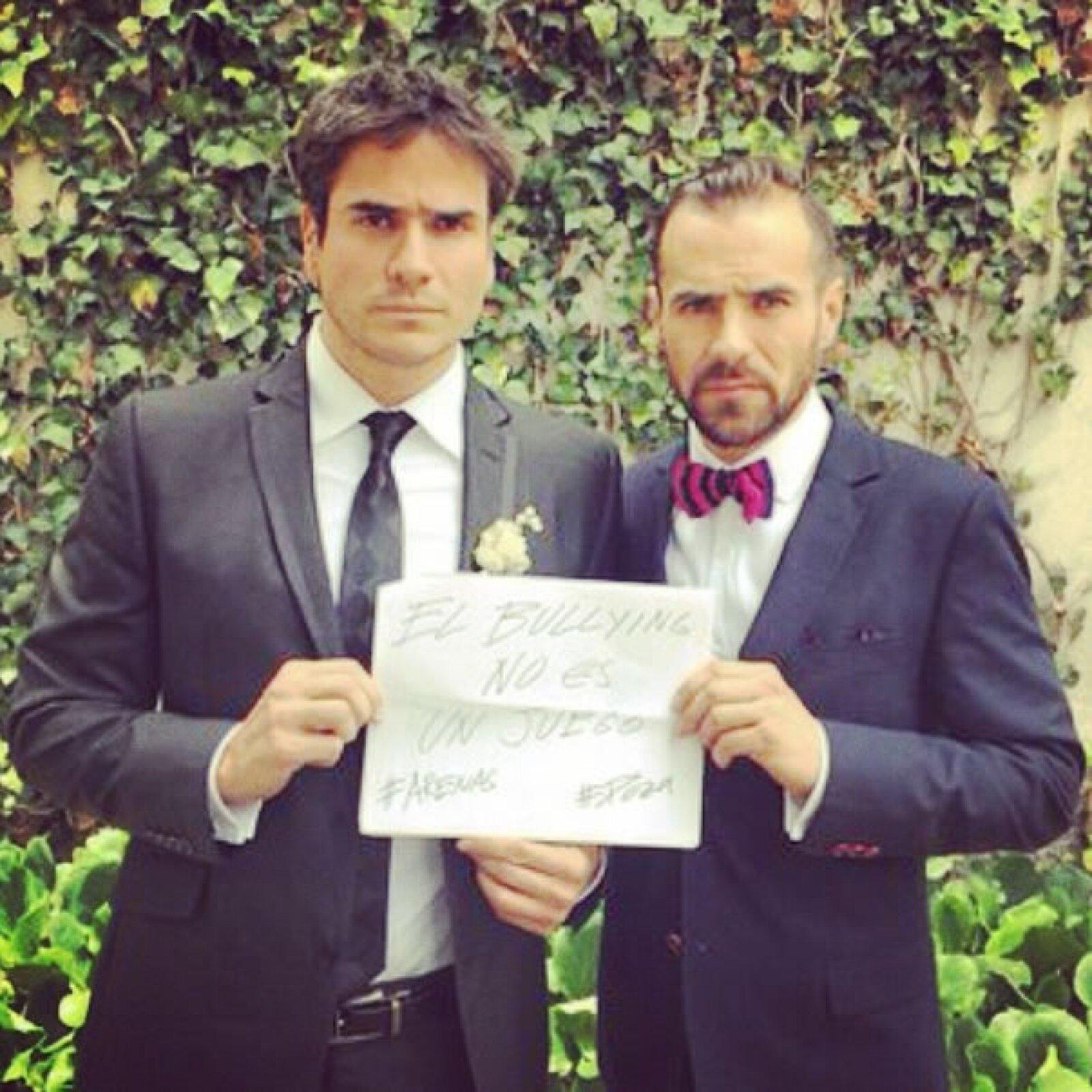 Los actores Daniel Arenas y Jorge Poza.