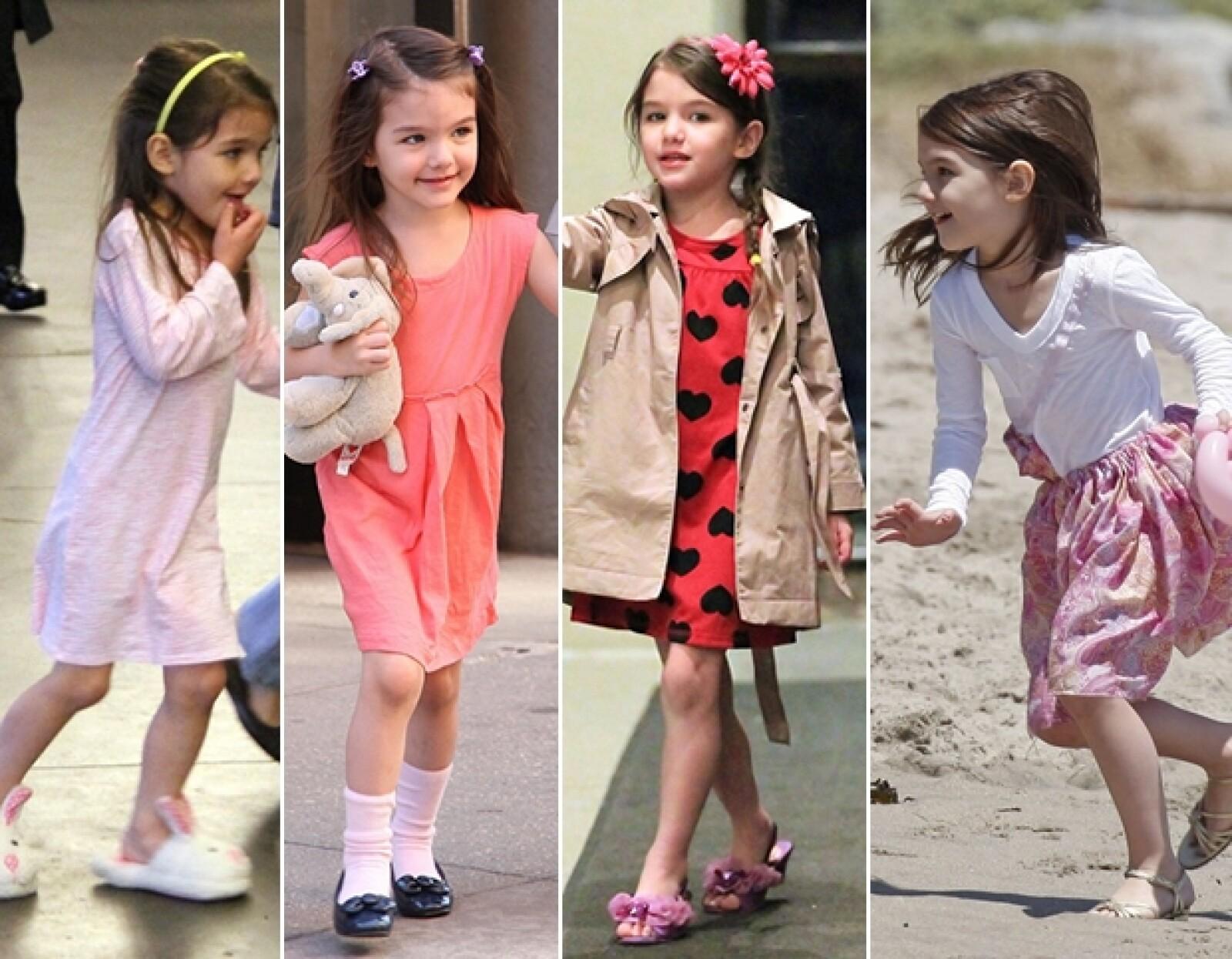 Aún cuando los medios opinen que es una niña demasiado consentida, la verdad es que Suri parece vivir una infancia feliz.