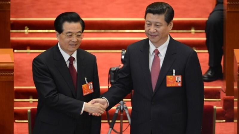 Hu Jintao entrega la presidencial al nuevo presidente chino Xi Jinping
