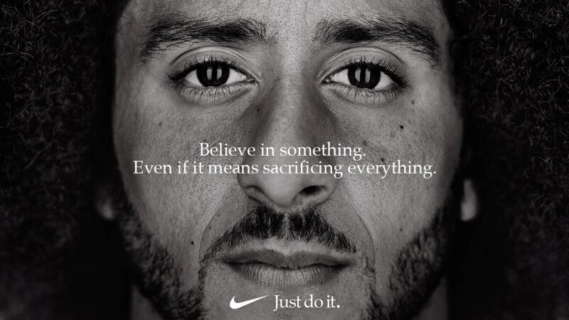 """Colin Kaepernick appears as a face of Nike Inc advertisement marking the 30th anniversary of its """"Just Do It"""" slogan"""