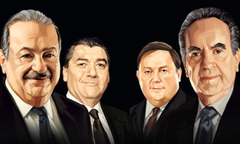 Carlos Slim, Alberto Baillères y José Antonio Fernández Carbajal hicieron el 1-2-3 dentro del ranking 2011 de Los 100 Empresarios más Importantes de México. (Foto: Revista Expansión)