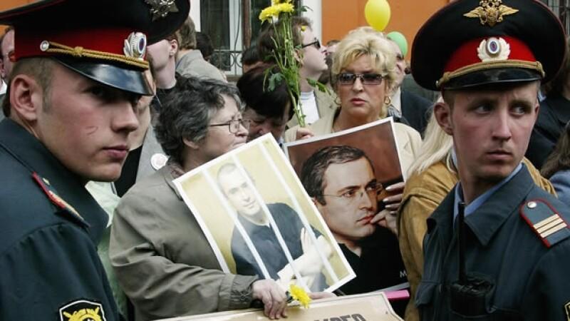Magnate petrolero ruso Mikhail Khodorkovsky