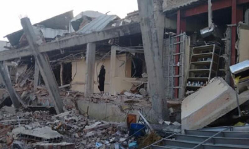Al menos 2 personas fallecieron en la explosión. (Foto: Tomada del twitter del delegado en Cuajimilpa)