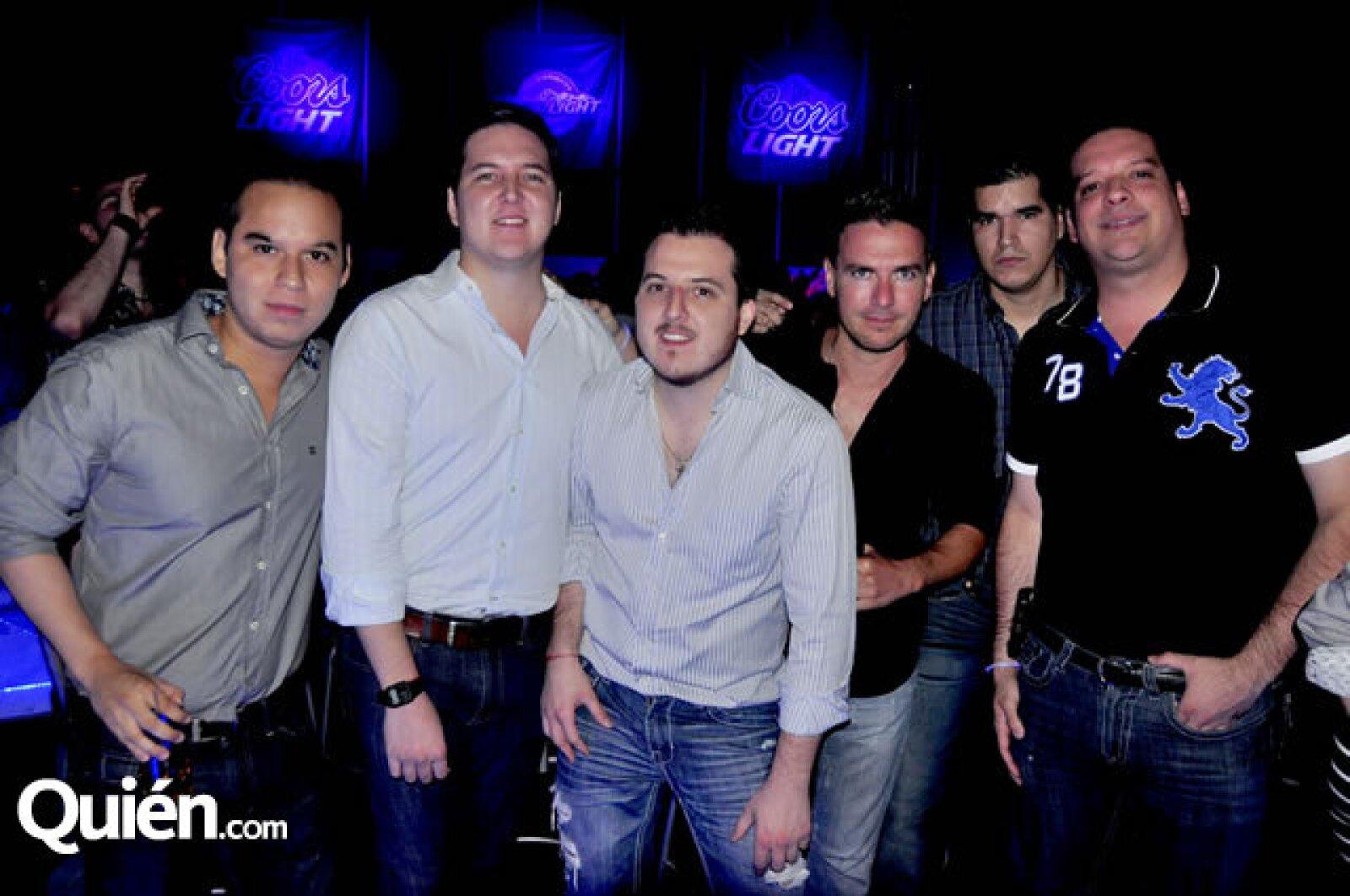 Erick Gallardo, Collovati Rizo, Christian Rizo, Nathan Karre, Mauricio Sepúlveda y Juan Esparza