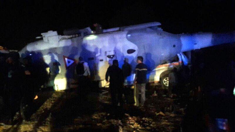 Helicóptero desplomado en Oaxaca