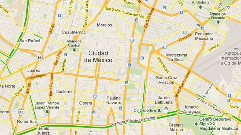 trafico transito google maps ciudad de mexico