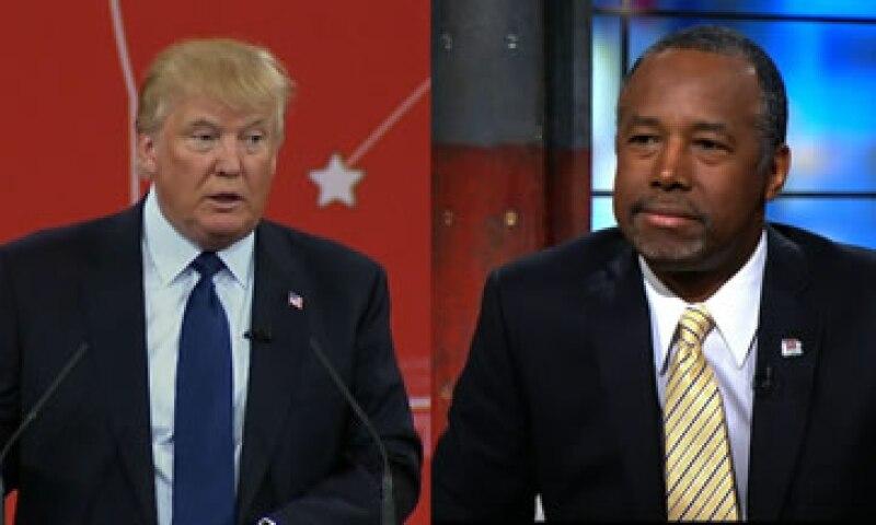 Carson (derecha) un político respetado entre la comunidad evangélica, le había ganado a Trump brevemente en las encuestas durante inicios de 2016. (Foto: CNN )