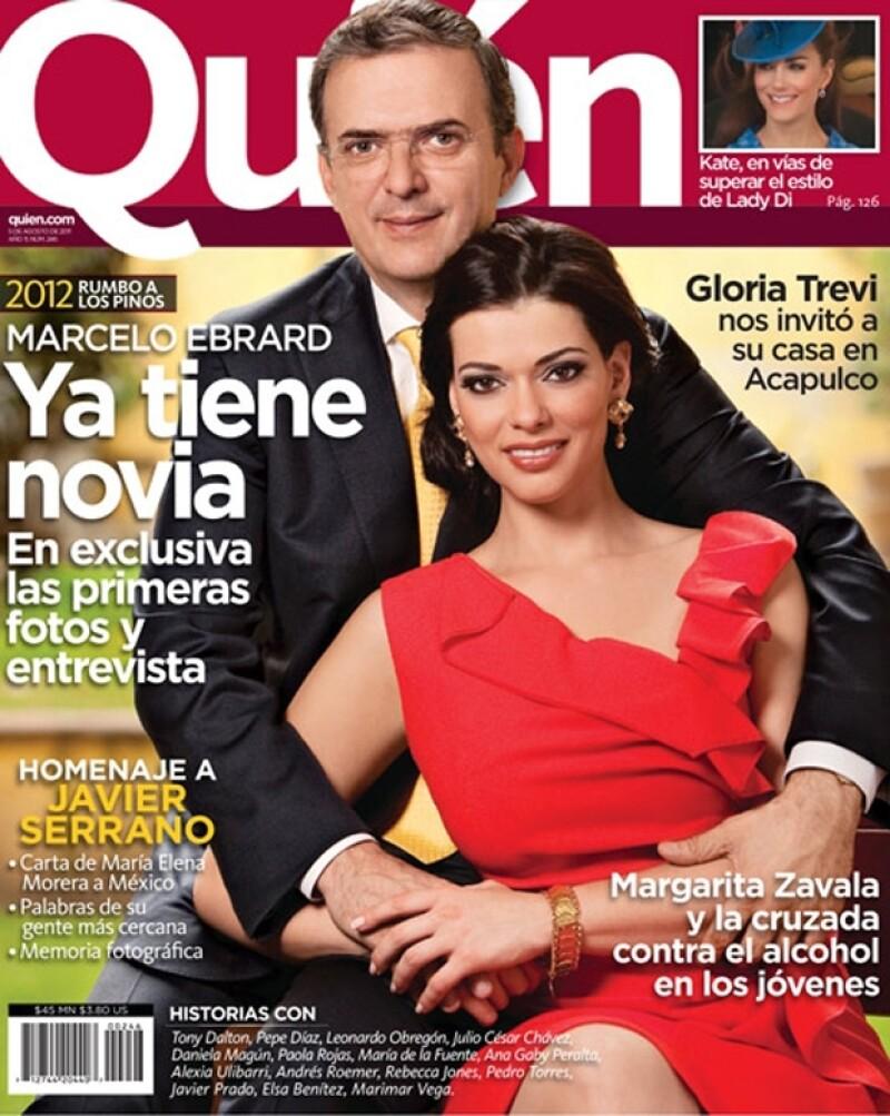 Así posó la pareja para la revista Quién.