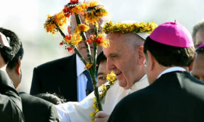 El papa Francisco inició este lunes el tercer día de actividades en México con eventos en Chiapas. (Foto: AFP)