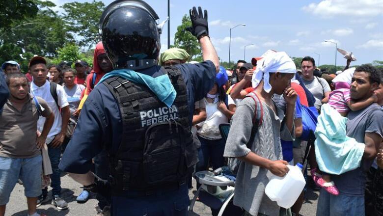 policía federal operativo migrantes
