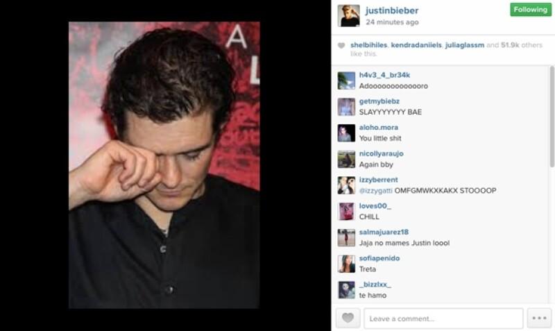 Esta es la polémica publicación del canadiense en su cuenta de Instagram.