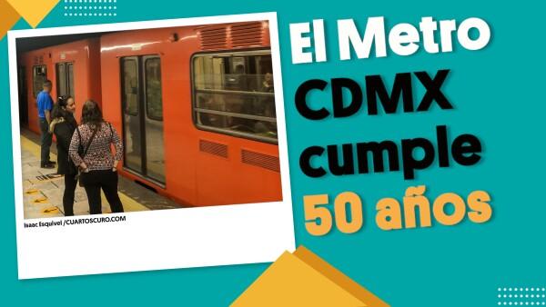 #MetroCDMX cumple 50 años de transportar a millones de mexicanos| #EnSegundos
