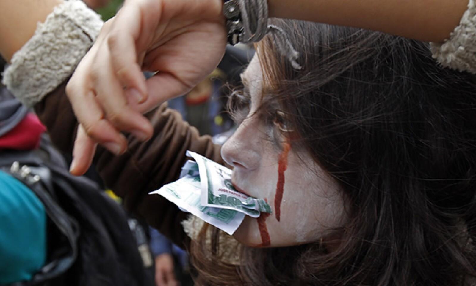 Los manifestantes se han pronunciado contra la avaricia corporativa, los rescates bancarios y hasta por un mejor medio ambiente, entre otros temas.