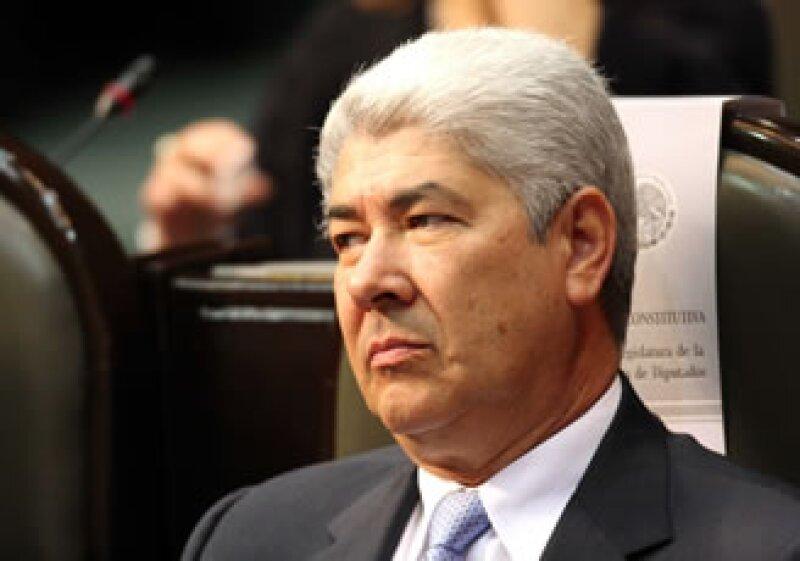Ramírez Acuña sostuvo, junto con diputados del PAN, un encuentro con Calderón. (Foto: Notimex)